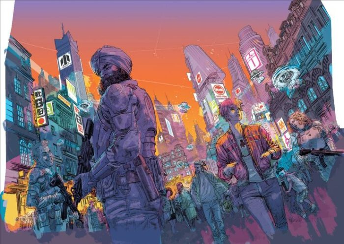 Illustration aus Madi: Once Upon A Time In The Future | © 2020 Duncan Jones, Alex de Campi
