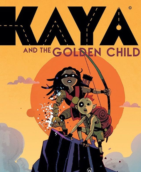 KAYA AND THE GOLDEN CHILD Cover | © 2020 Wes Craig