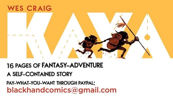 Super-advanced preview of the fantasy comic KAYA | © 2020 Wes Craig