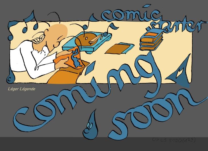 Léger Légende liest Comics. | © 2020 Leger Legende